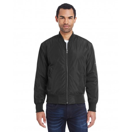 395J Threadfast Apparel 395J Unisex Bomber Jacket BLACK