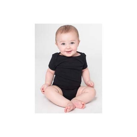 4001W American Apparel 4001W Infant Baby Rib Short-Sleeve One-Piece BLACK