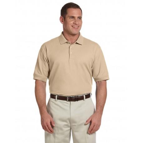 D100 Devon & Jones D100 Men's Pima Pique Short-Sleeve Polo STONE
