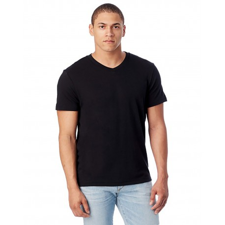 5101BP Alternative 5101BP Men's Keeper V-Neck BLACK