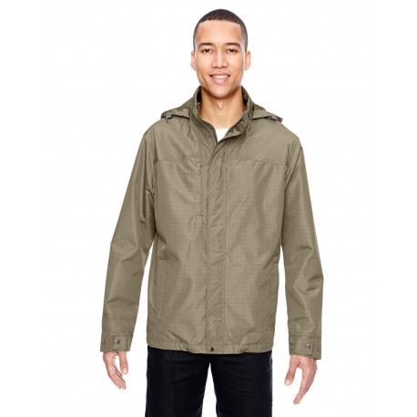 88216 North End 88216 Men's Excursion Transcon Lightweight Jacket with Pattern STONE 019