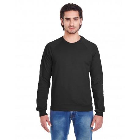 5454W American Apparel 5454W Unisex California Fleece Raglan BLACK
