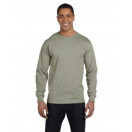 5186 Hanes 5186 Adult 6.1 oz. Long-Sleeve Beefy-T STONEWASH GREEN
