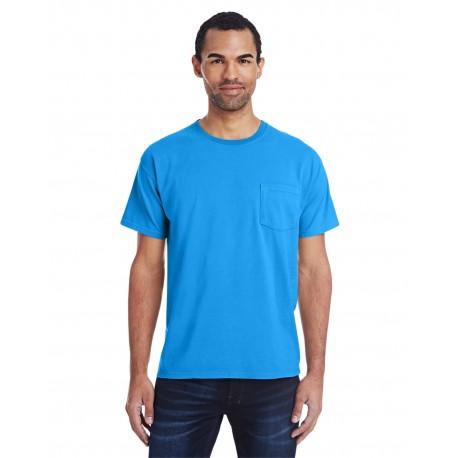GDH150 ComfortWash by Hanes GDH150 Unisex 5.5 oz., 100% Ringspun Cotton Garment-Dyed T-Shirt with Pocket SUMMER SKY