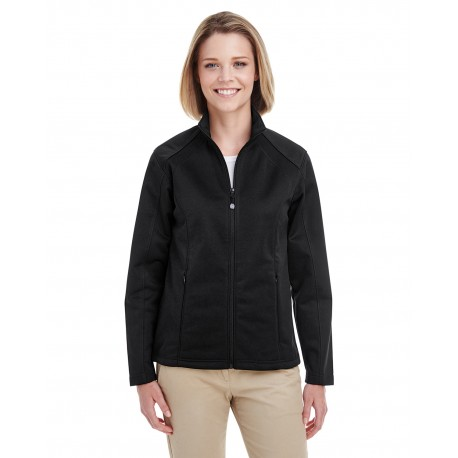 8477L UltraClub 8477L Ladies' Soft Shell Jacket BLACK