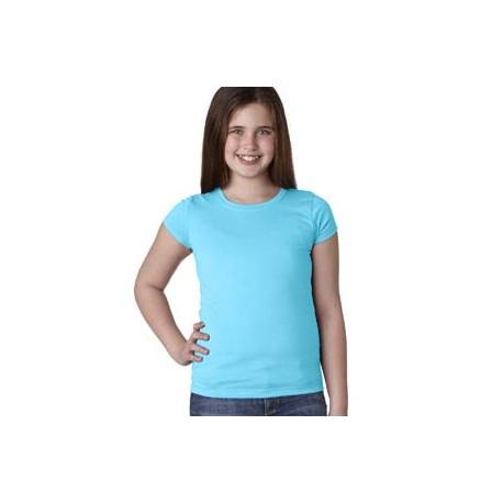 N3710 Next Level N3710 Youth Girls Princess T-Shirt TAHITI BLUE