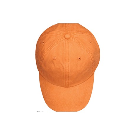 ACKO101 Adams ACKO101 Youth Pigment-Dyed Cap. TANGERINE