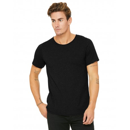 B3014 Bella + Canvas B3014 Men's Jersey Raw Neck T-Shirt BLACK