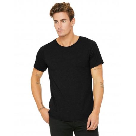 B3014 Bella + Canvas B3014 Men's Jersey Raw Neck T-Shirt BLACK