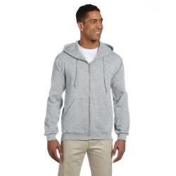 Jerzees 4999 Adult 9.5 oz., Super Sweats NuBlend Fleece Full-Zip Hood