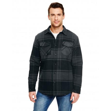 B8610 Burnside B8610 Adult Quilted Flannel Jacket BLACK