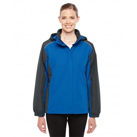 78225 Core 365 78225 Ladies' Inspire Colorblock All-Season Jacket TR ROY/CRBN 438