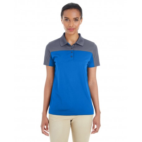 CE101W Core 365 CE101W Ladies' Balance Colorblock Performance Pique Polo TR ROY/CRBN 438