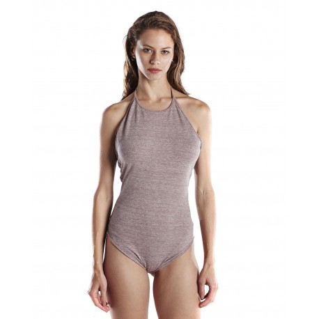 US223 US Blanks US223 Ladies' 4.9 oz. Halter Bodysuit TRI BROWN