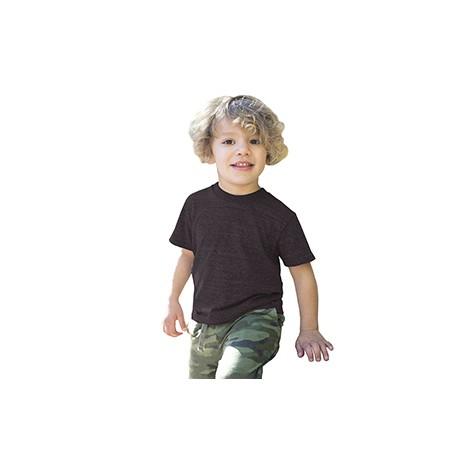 US2500K US Blanks US2500K Toddler Tri-Blend Crewneck T-Shirt TRI CHARCOAL