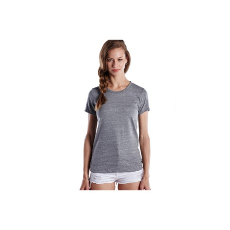 US222 US Blanks US222 Ladies' Short-Sleeve Triblend Crew TRI GREY