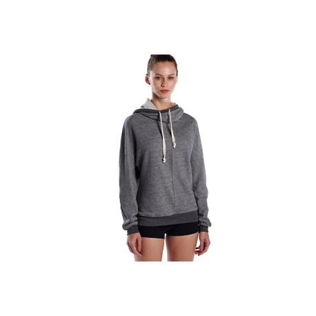 US897 US Blanks US897 Unisex French Terry Snorkel Pullover Sweatshirt TRI GREY