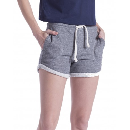 US355 US Blanks US355 Ladies' Casual French Terry Short TRI GREY