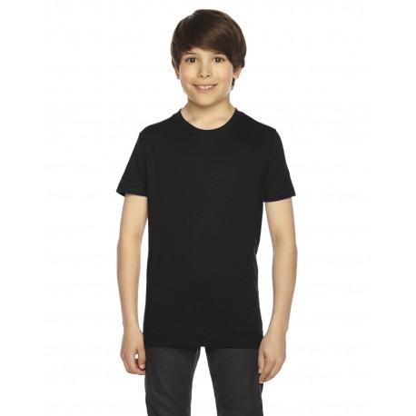 BB201W American Apparel BB201W Youth Poly-Cotton Short-Sleeve Crewneck BLACK