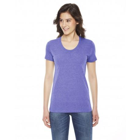 TR301W American Apparel TR301W Ladies' Triblend Short-Sleeve Track T-Shirt TRI ORCHID