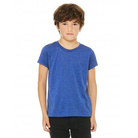 3413Y Bella + Canvas 3413Y Youth Triblend Short-Sleeve T-Shirt TRU ROYAL TRBLND