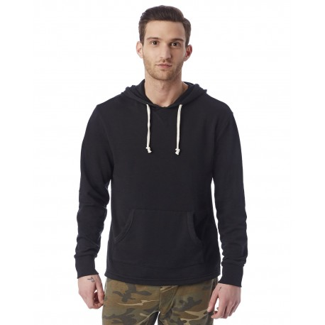 8629F Alternative 8629F Men's School Yard Hoodie TRUE BLACK