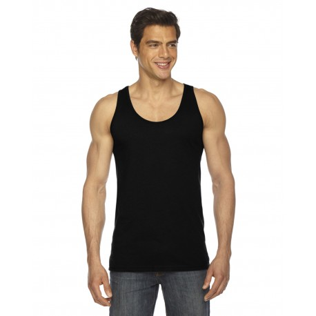 BB408W American Apparel BB408W Unisex Poly-Cotton Tank BLACK