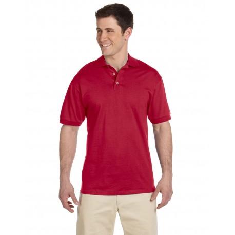J100 Jerzees J100 Adult 6.1 oz. Heavyweight Cotton Jersey Polo TRUE RED