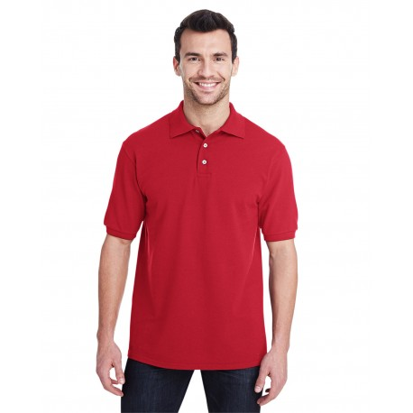 443MR Jerzees 443MR Adult 6.5 oz. Premium 100% Ringspun Cotton Pique Polo TRUE RED