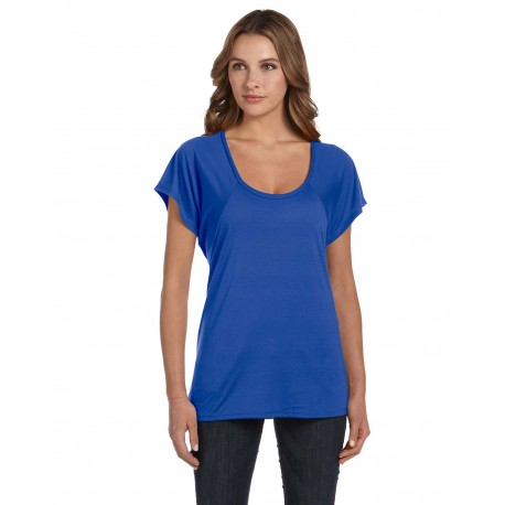B8801 Bella + Canvas B8801 Ladies' Flowy Raglan T-Shirt TRUE ROYAL