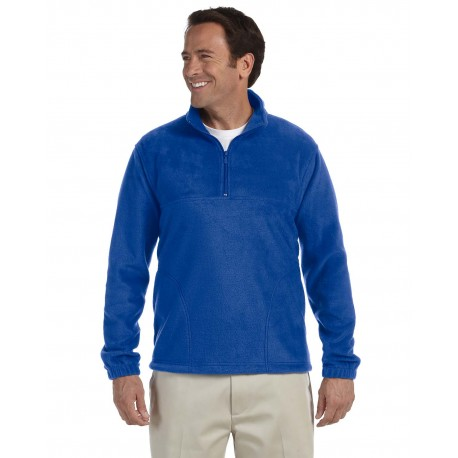 M980 Harriton M980 Adult 8 oz. Quarter-Zip Fleece Pullover TRUE ROYAL