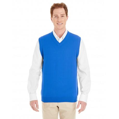 M415 Harriton M415 Men's Pilbloc V-Neck Sweater Vest TRUE ROYAL