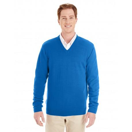 M420 Harriton M420 Men's Pilbloc V-Neck Sweater TRUE ROYAL