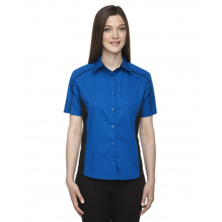 77042 North End 77042 Ladies' Fuse Colorblock Twill Shirt TRUE ROYAL 438
