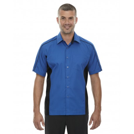 87042 North End 87042 Men's Fuse Colorblock Twill Shirt TRUE ROYAL 438