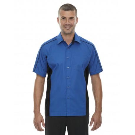 87042T North End 87042T Men's Tall Fuse Colorblock Twill Shirt TRUE ROYAL 438