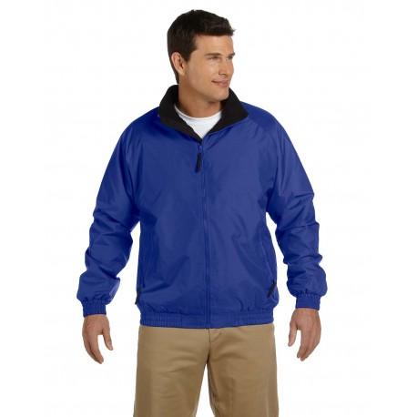 M740 Harriton M740 Adult Fleece-Lined Nylon Jacket TRUE ROYAL/BLK