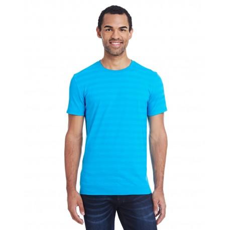 152A Threadfast Apparel 152A Men's Invisible Stripe Short-Sleeve T-Shirt TURQ INVSBL STRP