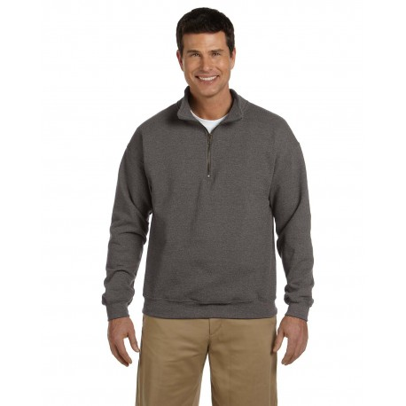 G188 Gildan G188 Adult Heavy Blend Adult 8 oz. Vintage Cadet Collar Sweatshirt TWEED