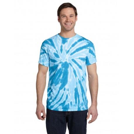 CD110 Tie-Dye CD110 Adult 5.4 oz., 100% Cotton Twist Tie-Dyed T-Shirt TWIST TURQUOISE