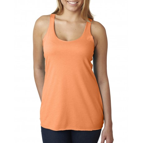 6733 Next Level 6733 Ladies' Triblend Racerback Tank VIN LIGHT ORANG