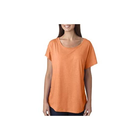 6760 Next Level 6760 Ladies' Triblend Dolman VIN LIGHT ORANG
