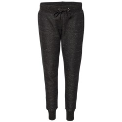 J America JA8675 Ladies' Melange Fleece Jogger Pant