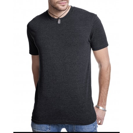 6010 Next Level 6010 Men's Triblend Crew VINTAGE BLACK