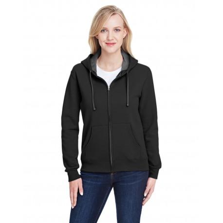 LSF73R Fruit of the Loom LSF73R Ladies' 7.2 oz. Sofspun Full-Zip Hooded Sweatshirt BLACK