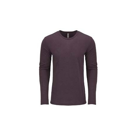 6071 Next Level 6071 Men's Triblend Long-Sleeve Crew VINTAGE PURPLE