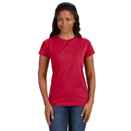 3505 LAT 3505 Ladies' Vintage Fine Jersey T-Shirt VINTAGE RED