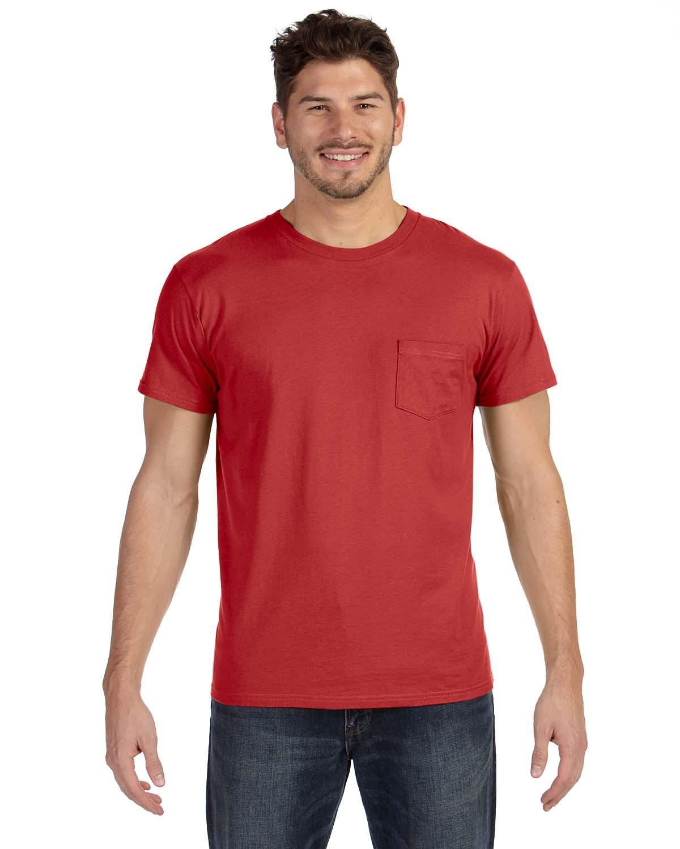 498P Hanes VINTAGE RED