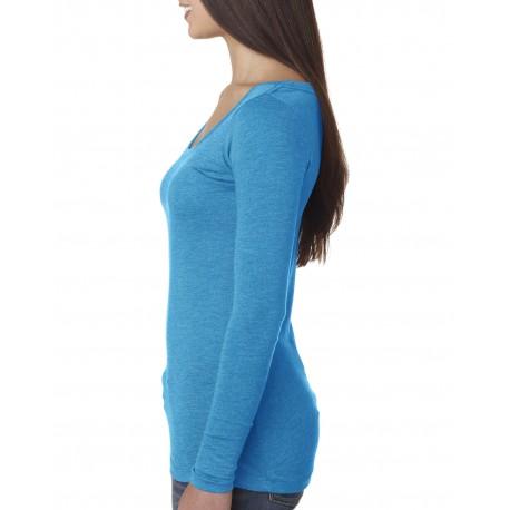 6731 Next Level 6731 Ladies' Triblend Long-Sleeve Scoop VINTAGE TURQ