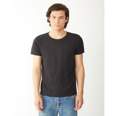 04850C1 Alternative 04850C1 Men's Heritage Garment-Dyed Distressed T-Shirt VINTAGE WHITE